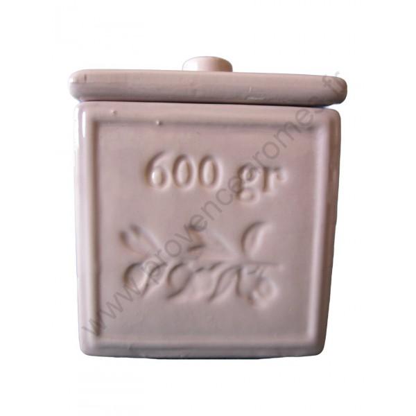 pot avec couvercle en forme de cube savon de marseille couleur parme clair provence ar mes. Black Bedroom Furniture Sets. Home Design Ideas