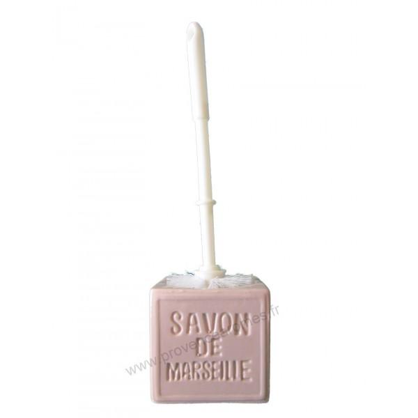 Balayette wc en cube savon de marseille couleur parme - Couleur parme clair ...