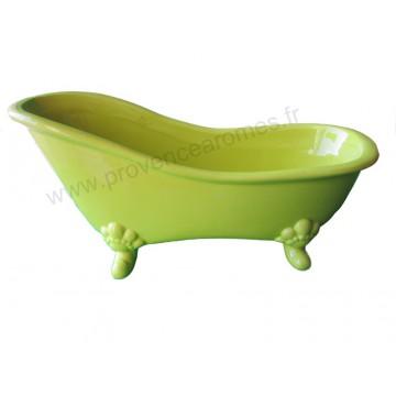 vide poche c ramique baignoire r tro couleur vert anis. Black Bedroom Furniture Sets. Home Design Ideas