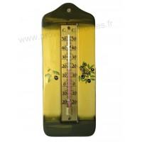 Thermomètre mural en céramique déco CIGALE OLIVE