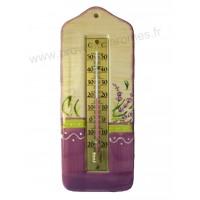 Thermomètre mural en céramique déco LAVANDE