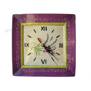 Horloge en céramique déco LAVANDE