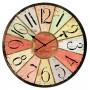 Horloge en verre GARE PARIS COULEURS déco rétro