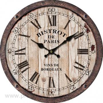 Horloge BISTROT DE PARIS tour effet métal vielli déco rétro