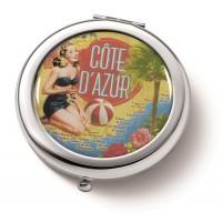 Miroir de poche CÔTE D'AZUR Natives déco rétro et vintage