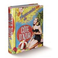 Livre boîte CÔTE D'AZUR Natives déco rétro et vintage
