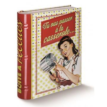 Boîte pour fiches recettes À LA CASSEROLE Natives déco rétro et vintage