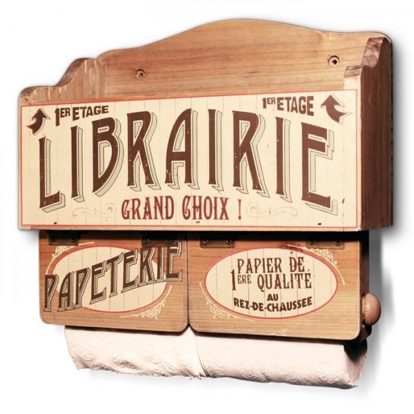 Support papier toilette et magazines librairie papeterie - Toilette retro ...