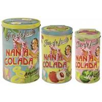 Set de 3 Boîtes alimentaires NANA COLADA Natives déco rétro et vintage