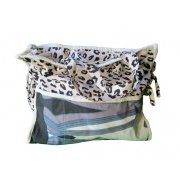 Grand sac coton léopard noir et blanc Lara Ethnics