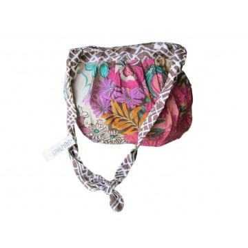 Sac style bourse coton fleuri Lara Ethnics