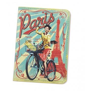 Protège passeport PARIS PAULETTE Natives déco rétro vintage