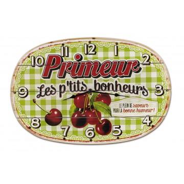 Horloge PRIMEUR Natives déco rétro et vintage