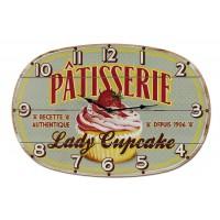 Horloge LADY CUPCAKE Natives déco rétro et vintage
