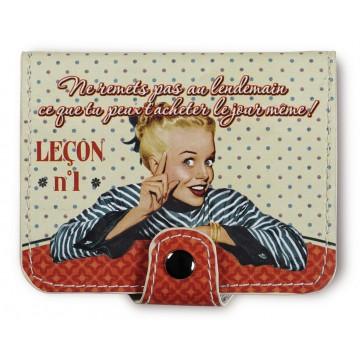 Porte-cartes bancaires LEÇON N°1 Natives déco rétro vintage