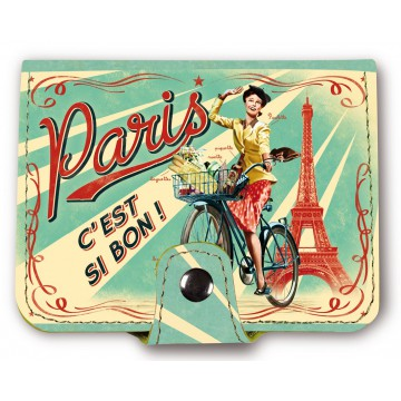 Porte-cartes bancaires PARIS PAULETTE Natives déco rétro vintage