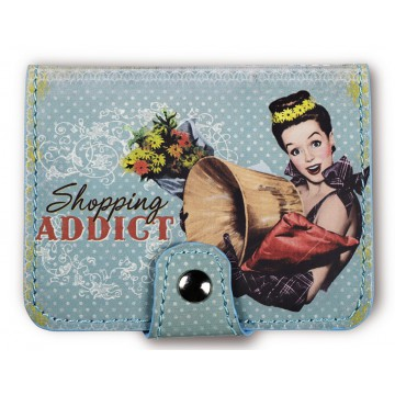 Porte-cartes bancaires SHOPPING ADDICT Natives déco rétro vintage