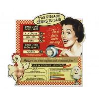 Magnet mémo infos cuisine BEAUX OEUFS Natives déco rétro vintage
