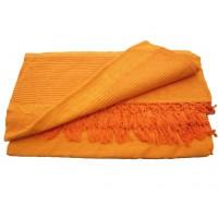 Grande Tenture Kérala plaid couvre-lit orange