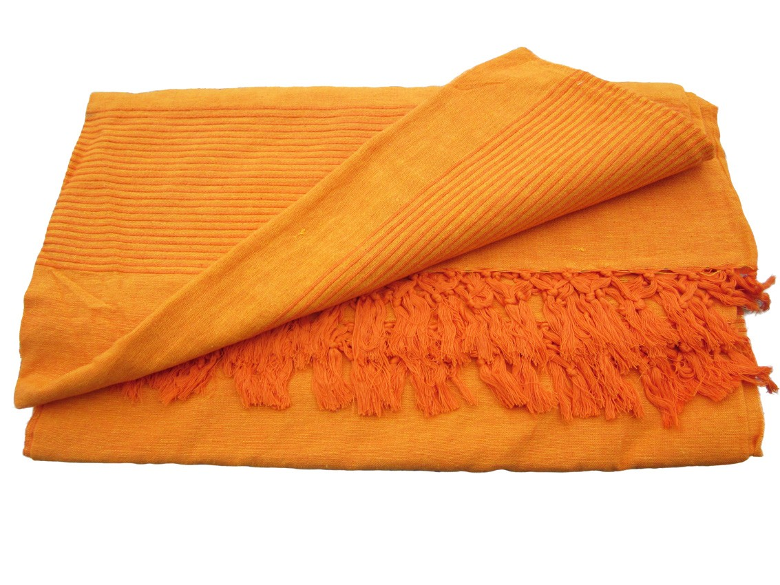 couvre lit pas cher marron orange Tenture kérala Plaids couvre lits, jetés de canapé   Provence  couvre lit pas cher marron orange