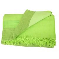 Grande Tenture Kérala plaid couvre-lit vert printemps