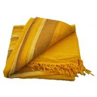 Tenture Kérala plaid couvre-lit Jaune Ocre Curry