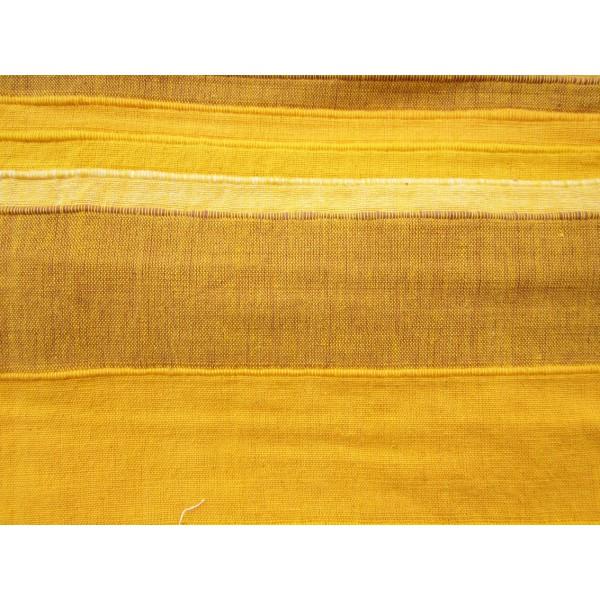 tenture k rala plaid couvre lit jaune ocre curry. Black Bedroom Furniture Sets. Home Design Ideas