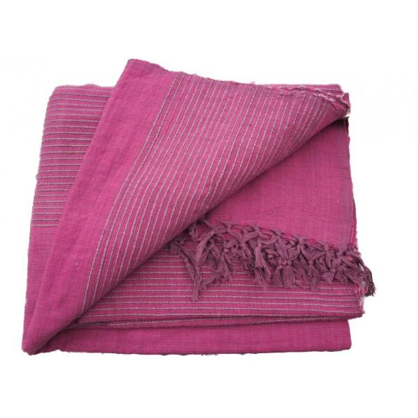 tenture k rala plaid couvre lit fuchsia violet provence ar mes tendance sud. Black Bedroom Furniture Sets. Home Design Ideas