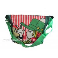 Sac à bandoulière fille casquette verte vintage Lara Ethnics
