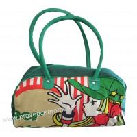 Sac de sport, shopping ou week-end motif fille casquette verte vintage Lara Ethnics