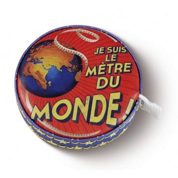 """Mètre ruban rétractable """"Je suis Mètre du Monde"""" Natives déco rétro et vintage"""