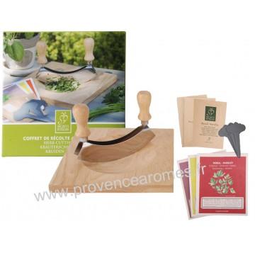 Coffret Hachoir et Planche à découper avec kit de semence plantes aromatiques