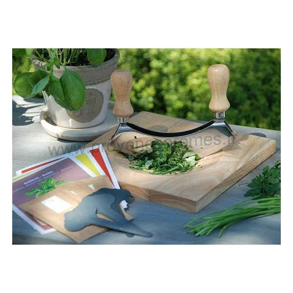 coffret hachoir et planche d couper avec kit de semence plantes aromatiques provence ar mes. Black Bedroom Furniture Sets. Home Design Ideas