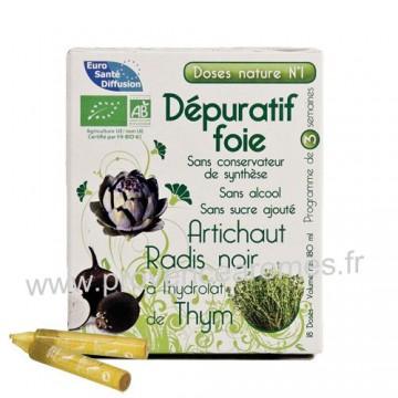 Dépuratif foie Artichaut Radis noir et hydrolat de Thym Doses Nature n°1 Phytofrance