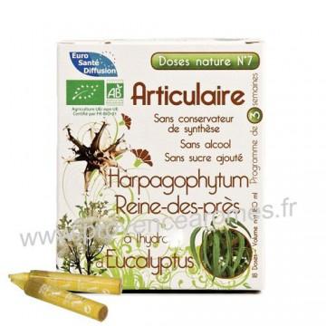 mobilité articulaire avec Harpagophytum, Reine-des près et Eucalyptus Articulaire doses Nature n°7 Phytofrance