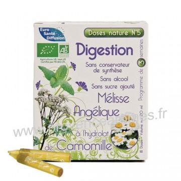 Aide à la digestion Mélisse, Angélique et hydrolat de Camomille doses Nature n°5 Phytofrance