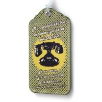 Porte-étiquette Téléphone Beau Gosse Natives déco rétro et vintage