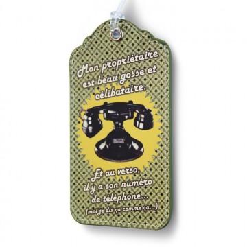 Porte-étiquette Téléphone Beau Gosse Natives déco rétro vintage