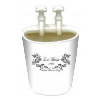 Pot salle de bain lavabo avec robinets en céramique déco ANGES