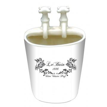 Pot salle de bain petit lavabo avec robinets d coration for Pot salle de bain