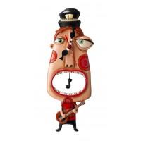 Horloge Guitariste à balancier déco rétro vintage designs