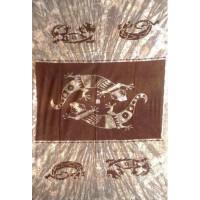 Tenture motif Gecko Salamandre Tenture à franges 100 x 160 cm