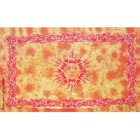 Tenture déco Soleil Soleil Tenture orange Tie dye à franges 100 x 160 cm
