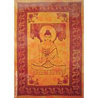 Tenture motif Bouddha Tenture orange à franges 100 x 160 cm