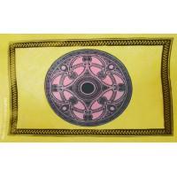 Tenture déco Mandala Tenture jaune et rosé à franges 100 x 160 cm