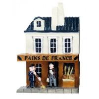 Magnet BOULAGERIE PAINS DE FRANCE Magnet mini maison en relief