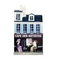 Magnet Café des artistes Magnet en relief mini maison