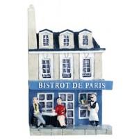 Magnet Bistrot de Paris Magnet mini maison en relief