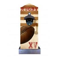 Décapsuleur déco Rugby XV avec récupérateur de capsules