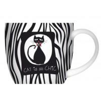 Mug Chat noir et blanc CAT CHIC déco